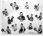 Cam Henderson with Marshall College basketball team, 1948-49
