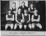 Cam Henderson with Bristol High School team, 1913
