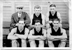 Cam Henderson (with cap) & Davis & Elkins basketball team, 1925