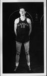 Jim Glass, basketball guard at Marshall College, late 1940's