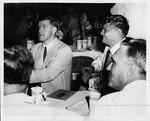 Football players Eddie Ulinski (left) and Frank