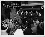 Marshall championship team returns to Huntington C&O station, 1947