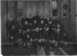 Glenville Normal School football squad, 1910, Cam Henderson back row, center
