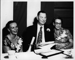Camille, Cam and Roxie Henderson at Cam Henderson Day Dinner, 1954