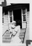 Roxie Bell Henderson holding dau Camille, Apr.. 1928