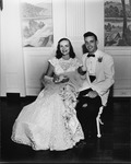 Camille Henderson and O. C. Halyard wedding portrait, Aug. 1952