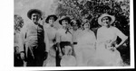 Bell family group, Roxie second from left, her mother third from left