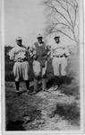 Farley Bell, Pud Hutson, Rex Johnson, Muskingum College baseball players