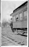 Farley Bell, Richard Sturm, Russ Wright on train to Spencer, W.Va.