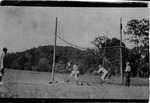Farley Bell playing in his first baseball game, ca. 1917-1919