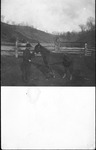 John Henderson, father of Cam, with his race horse, ca. 1910