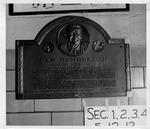 Cam Henderson plaque at Memorial Field House, Huntington