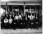 Muskingum College dining club, 1920, Cam henderson front row, center