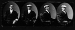 4-photo strip of Cam Henderson as a young man, ca. 1910