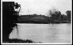 Lake on Muskingum College campus, ca. 1910