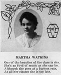 Martha Watkins, Farley Bell's Wife, from 1917 senior yearbook