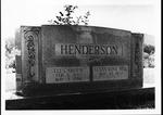 Headstone of Cam Henderson & wife Roxie, Stalnaker Cemetery, ca. 1980