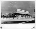 Architect's drawing of Cam Henderson center, Marshall University, ca. 1980