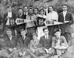 Bristol High School, W.Va., students. Cam henderson in far back, 1918