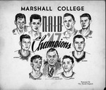 Sketch by Irvin Dugan of Cam Henderson & Marshall 1947 championship team