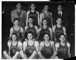 Cam Henderson and Marshall basketball team, ca. 1940's