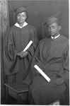 Mildred and Harry Matney, graduation photo