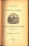 1875-1876 Catalogue of Marshall College, State Normal School