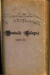 1880-1881 Catalogue of Marshall College, State Normal School by Marshall University