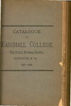 1887-1888 Catalogue of Marshall College, The State Normal School by Marshall University
