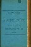 1888-1889 Catalogue of Marshall College, The State Normal School by Marshall University