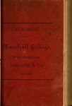 1889-1890 Catalogue of Marshall College, The State Normal School by Marshall University