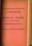 1890-1891 Catalogue of Marshall College, The State Normal School by Marshall University
