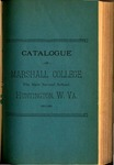 1891-1892 Catalogue of Marshall College, The State Normal School