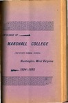 1894-1895 Catalogue of Marshall College, The State Normal School by Marshall University