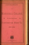 1895-1896 Catalogue of Marshall College, The State Normal School