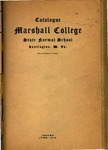 1910 Catalogue of Marshall College, The State Normal School by Marshall University