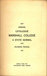 1911 Catalogue of Marshall College, The State Normal School by Marshall University