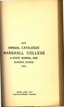 1912 Catalogue of Marshall College, The State Normal School