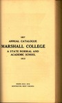 1913 Catalogue of Marshall College, The State Normal School by Marshall University