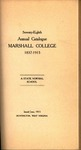 1915 Catalogue of Marshall College, The State Normal School by Marshall University