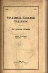 1917-1918 Catalogue of Marshall College
