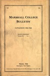 1921-1922 Catalogue of Marshall College