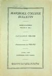 1929-1930 Catalogue of Marshall College by Marshall University