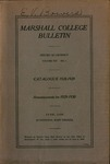 1928-1929 Catalogue of Marshall College by Marshall University