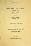 1935-1936 Catalogue of Marshall College