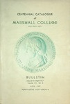 1936-1937 Centennial Catalogue of Marshall College by Marshall University