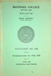 1937-1938 Catalogue of Marshall College by Marshall University
