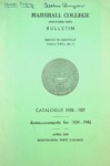 1938-1939 Catalogue of Marshall College by Marshall University