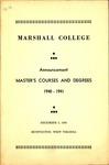 1940-1941 Graduate Catalogue by Marshall University