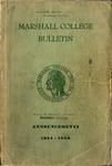1954-1956 Marshall Bulletin